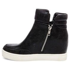 Women's Gisel High Top Perforated Sneakers Mossimo Supply Co. - Black 7.5