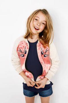 Zara Kids: primavera 2016 - kids style | girls style silk bomber jacket in pink