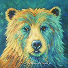 Forest Spirit Bear by Theresa Paden in the FASO Daily Art Show