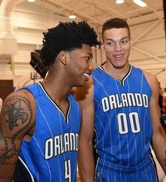 Elfrid Payton & Aaron Gordon of the Orlando Magic