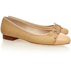 Sam Edelman Bev Natural Leather Flat ($89) ❤ liked on Polyvore featuring shoes, flats, neutrals, sam edelman, leather flat shoes, woven-leather shoes, flat pumps and flat shoes