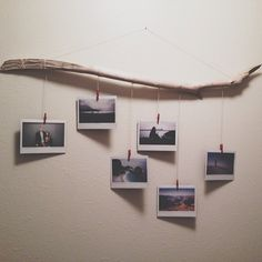 Driftwood instax display by @Paige Hereford Becker (via Instagram)