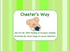 $2.50 -- Chester's Way Book Study -- Kevin Henkes #chester #henkes #vocabulary Chesters Way, Kevin Henkes Books, Author Studies, Book Study, School Resources, Graphic Organizers, Math Activities, Second Grade, Writing Prompts