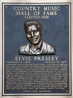 1998: ELVIS PRESLEY once rejected by the Grand Old Opry, is inducted into Nashville's Country Music Hall of Fame.  Could have done a better job on the pic?