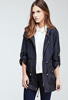 Parka Capucha Cordones - chaquetas y abrigos - 2000055884 - Forever 21 EU