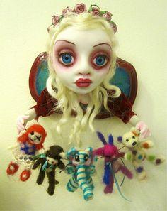 "art doll ~ "" St. Velvetina,Patron Saint of Abandoned Toys"" by ostrich girl, Sheri DeBow"