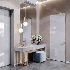 Easy Contemporary Home Decor Ideas Home Room Design, Home Interior Design, Living Room Designs, House Design, Entrance Hall Decor, Entryway Decor, Flur Design, Homemade Home Decor, Dressing Room Design