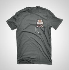 Pocket Flying Bison Air bison t-shirt for everyone!