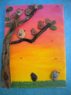 Pebble Art Painting Picture Made by DengraDesigns