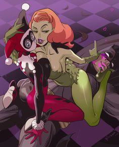 Harley Quinn and Poison Ivy Seduce Batman