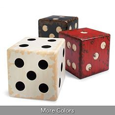 Dice table or stools for the game room.... I could make these!