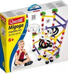 Migoga Marble Run Double Spiral - Dobre Zabawki Spiral, Marble, Baseball Cards, Running, Keep Running, Granite, Why I Run, Marbles