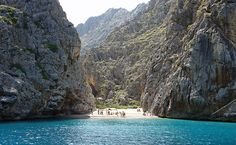 the high cliffs of Mallorca, in the Balearic Islands of Spain
