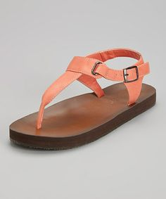 Coral Foley Buckle Sandal