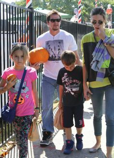Mark Wahlberg, His Children And His Wife Rhea Durham Get Ready For Halloween By Picking Out Pumpkins