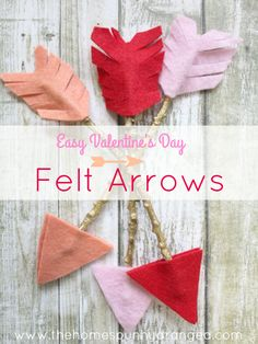 Play Cupid and take a shot at love this Valentine's day with this adorable craft from The Homespun Hydrangea. It's easy to fall for these DIY Cupid's Arrows! Valentines Day Party, Valentine Day Crafts, Be My Valentine, Holiday Crafts, Holiday Fun, Craft Stick Crafts, Felt Crafts, Craft Ideas, Diy Crafts