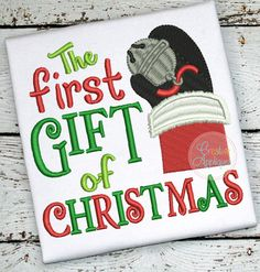 The First Gift of Christmas Embroidery design