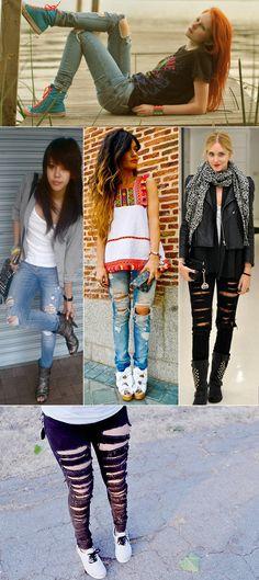 Como Customizar sua Calça Jeans Velha! - Depois dos Quinze   Bruna Vieira