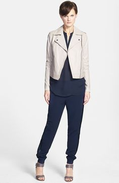 Vince Leather Jacket, Top & Sweatpants | Nordstrom