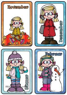 Monatsnamen _ Mit Lena durch das ganze Jahr _ Bildkarten