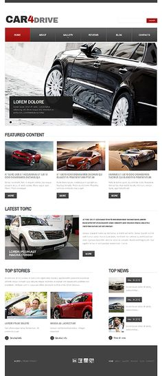 Car Enthusiast Portal #Drupal #template. #themes #business #responsive