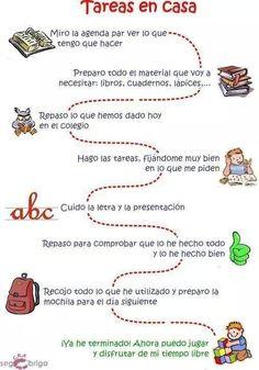 To paste on homework folder! Spanish Teacher, Spanish Classroom, Teaching Spanish, Teaching English, Bilingual Education, Kids Education, School Hacks, I School, Flipped Classroom