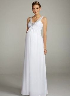 David's Bridal offers a stunning selection of maternity wedding dresses & gowns in many styles. View our maternity wedding gowns to find your perfect look! Maternity Bridesmaid Dresses, Maternity Gowns, Maternity Fashion, Maternity Wedding, Bride Dresses, Wedding Dresses Photos, Bridal Wedding Dresses, Cheap Wedding Dress, Wedding Venues