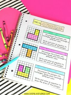 3rd grade test prep INBs: I usually hate test prep, but interactive notebooks make reviewing math skills SO MUCH FUN!