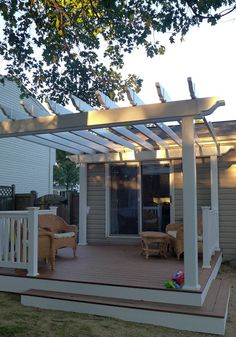 Spun by Me: A New Deck and Pergola