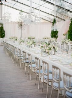 Classic white + silver wedding tablescape: http://www.stylemepretty.com/2016/03/08/tented-at-home-chicago-wedding/ | Photography: Jose Villa - http://josevilla.com/