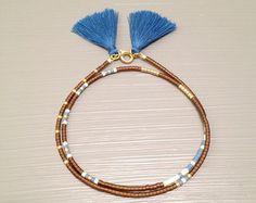 Beaded Friendship Bracelets Tassel Bracelet Seed by HippieThings