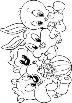 Baby Looney Tunes Coloring Pages On Coloring Book Info Printables