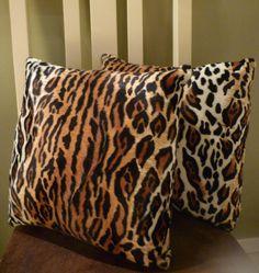 2 Jaguar print cushion covers fits 18 x 18 inner by VenusCreations, $17.00