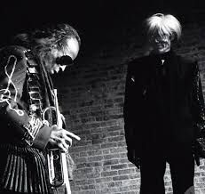 Mr Andy Warhol with Mr Miles Davis