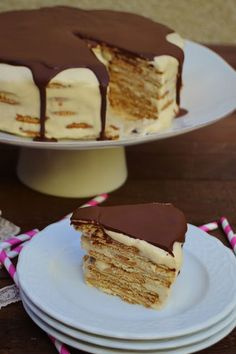 Chef Recipes, Sweets Recipes, Real Food Recipes, Yummy Food, Portuguese Desserts, Portuguese Recipes, Cookie Desserts, No Bake Desserts, Biscuit Pudding