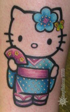 Geisha Hello Kitty tattoo
