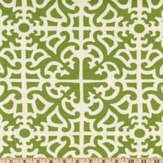 Waverly Parterre Damask Grass from @fabricdotcom  Screen printed on cotton, this medium weight fabric is from the Colonial Williamsburg collection. It is perfect for draperies, duvets, pillows and even slip covers. Get creative with tote bags and aprons, too! Colors include ivory and grass green.