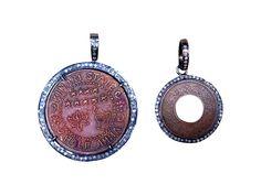 Coin and Diamond Pendants — S. Carter Designs