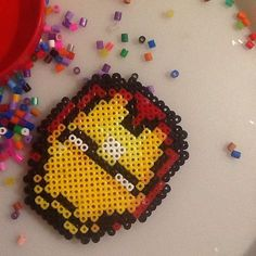 Iron Man hama beads by livid_kitten