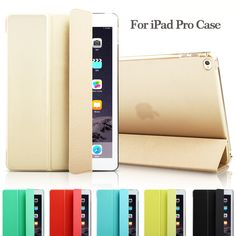 """Fashion Ultra Slim Magnetic Front Smart Case Skin + Hard PC Back Cover For iPad Pro 12.9"""" 9.7"""" (Not fit 2017 New Pro 12.9 2th )"""