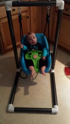 My latest creation a PVC swing frame for the little man.