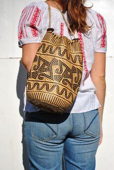 Sisal bag, sisal backpack, wicker backpack, wicker purse, wicker bag, ethnic backpack, woven basket bag, wicker basket bag, wicker bag