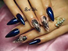 Одноклассники Crazy Nails, Fun Nails, Pretty Nails, Nail Polish Designs, Nail Art Designs, Tattoo Designs, Lace Nails, Stiletto Nails, Nail Place