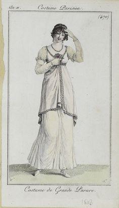 1802-1803 Costume Parisien, Regency fashion plate