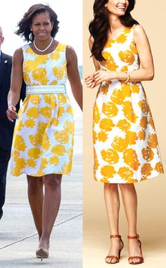 Gimme that! Michelle Obama's fab floral Martha's Vineyard vacation dress is a pretty rose-print number from Talbots!