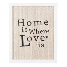 Tableau en bois blanc 28 x 35 cm HOME & LOVE