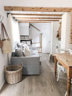 Here's What They Don't Tell You About Living in a Tiny House - Dwell Simple Living Room, Home Living Room, Cozy Living, White Shiplap Wall, Tiny House Nation, Burn Out, Foyer Design, Living Room Trends, Tiny House Living