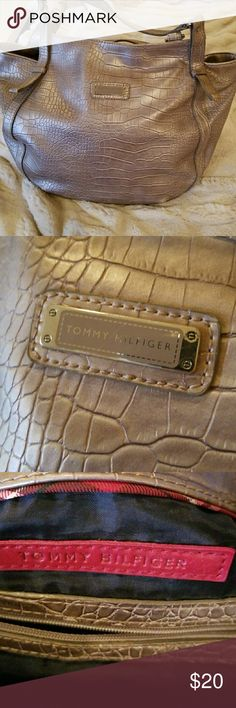 Tommy Hilfiger purse Silver/bronze colored shoulder purse. Good condition. Tommy Hilfiger Bags Shoulder Bags