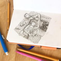 "Gefällt 96 Mal, 3 Kommentare - Inge van Tienhoven (@studio.sus) auf Instagram: ""Something different form me today! A page from my sketchbook 💕"""