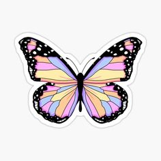 Calendar Stickers, Printable Stickers, Cute Stickers, Art Papillon, Papillon Rose, Butterfly Drawing, Pink Butterfly, Homemade Stickers, Paper Crafts